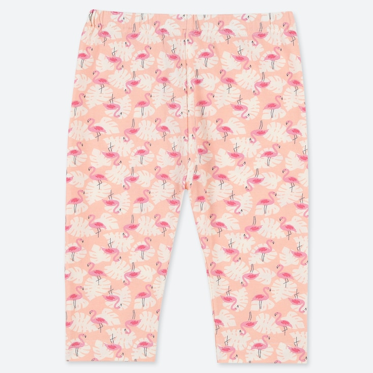 BABIES TODDLER FLAMINGO PRINT CROPPED LEGGINGS