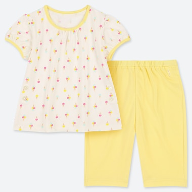 BABIES TODDLER DRY ICE CREAM PRINT SHORT SLEEVED PYJAMAS