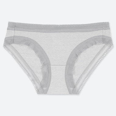 WOMEN STRIPED LACE BRIEFS