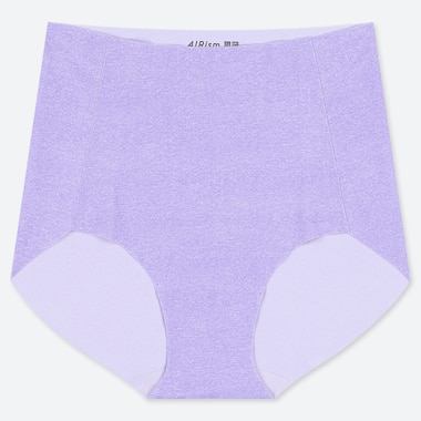 WOMEN AIRism ULTRA SEAMLESS HIGH-RISE BRIEF SHORTS, PURPLE, medium