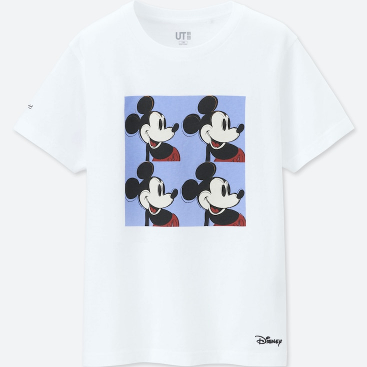 KIDS MICKEY MOUSE ART BY ANDY WARHOL UT (SHORT-SLEEVE GRAPHIC T-SHIRT), WHITE, large