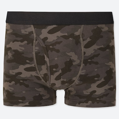 MEN SUPIMA COTTON CAMO PRINTED BOXER BRIEFS