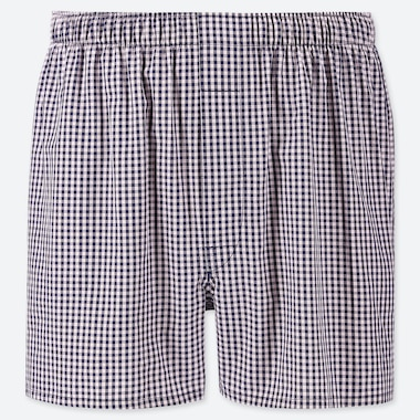 MEN WOVEN CHECKED BOXERS, PINK, medium