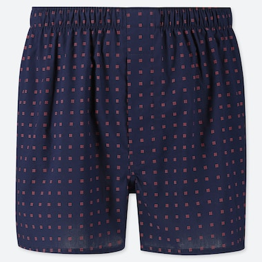 MEN WOVEN SQUARE PRINT TRUNKS