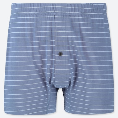 MEN KNIT BOXERS, BLUE, medium