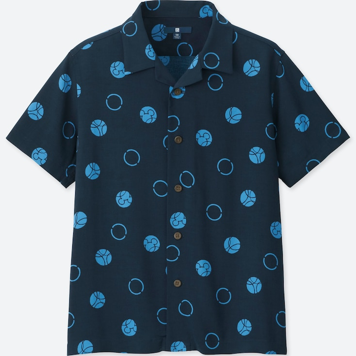 BOYS MICKEY BLUE SHORT-SLEEVE SHIRT (ONLINE EXCLUSIVE), NAVY, large