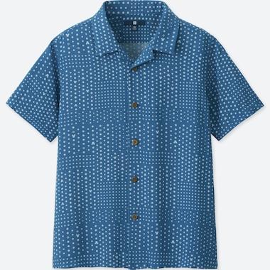BOYS MICKEY BLUE SHORT-SLEEVE SHIRT (ONLINE EXCLUSIVE), BLUE, medium