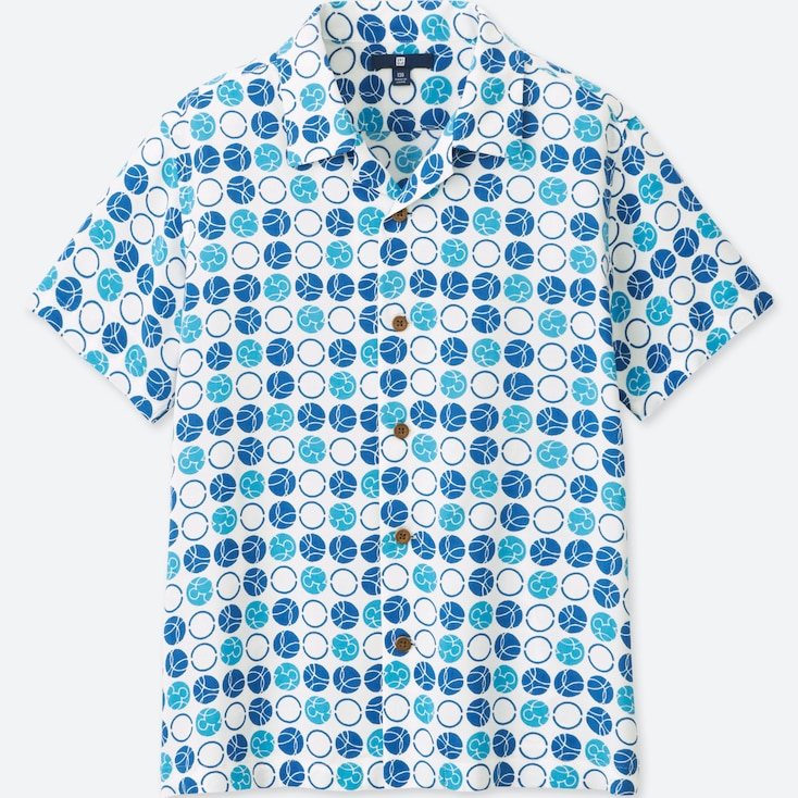 BOYS MICKEY BLUE SHORT-SLEEVE SHIRT (ONLINE EXCLUSIVE), OFF WHITE, large