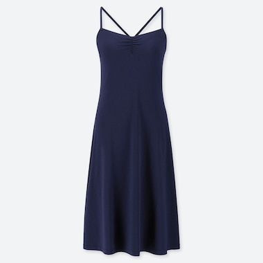 WOMEN CAMISOLE BRA DRESS, NAVY, medium