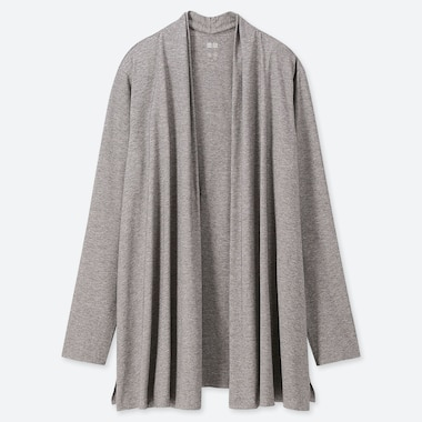WOMEN AIRISM UV CUT SEAMLESS STOLE CARDIGAN