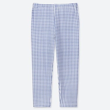 GIRLS CROPPED CHECKED LEGGINGS