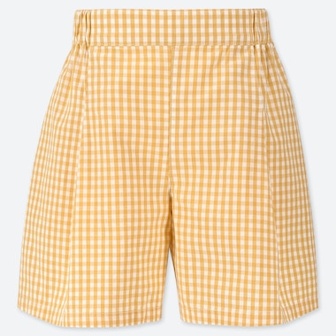 GIRLS EASY FLARED GINGHAM CHECKED SHORTS
