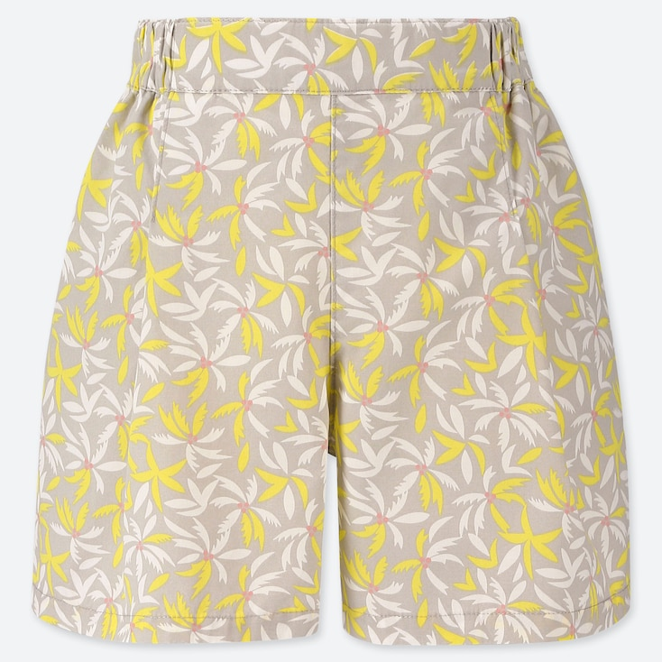 GIRLS EASY FLARE SHORTS, YELLOW, large