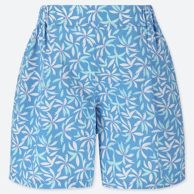 GIRLS EASY LEAF PRINT FLARED SHORTS