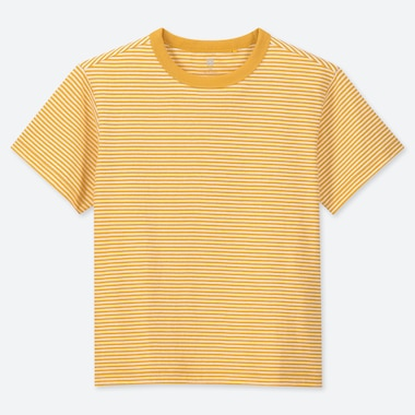 KIDS CREW NECK STRIPED SHORT SLEEVED T-SHIRT