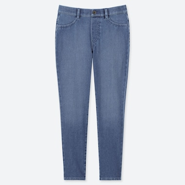 DAMEN ULTRA STRETCH LEGGINGS IN DENIM-OPTIK UND 7/8-LÄNGE
