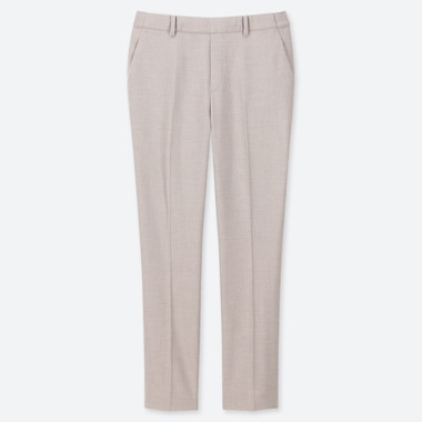 WOMEN EZY MICRO CHECKED ANKLE LENGTH TROUSERS