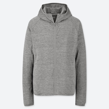 MEN DRY-EX LONG SLEEVED FULL-ZIP HOODIE