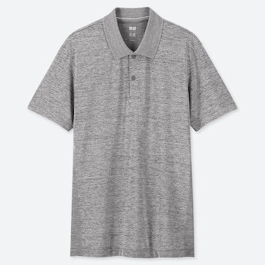MEN DRY-EX SHORT-SLEEVE POLO SHIRT, GRAY, medium