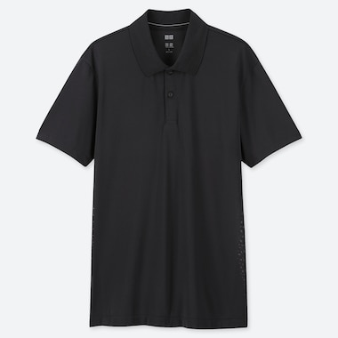 MEN DRY-EX SHORT-SLEEVE POLO SHIRT, BLACK, medium