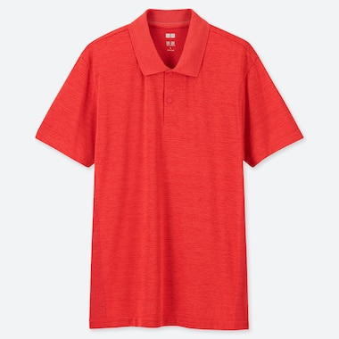 MEN DRY-EX SHORT-SLEEVE POLO SHIRT, ORANGE, medium