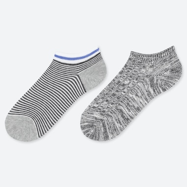 BOYS LINE PRINT ANKLE SOCKS (TWO PAIRS)