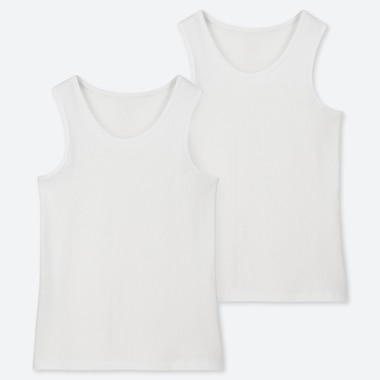 KIDS COTTON INNER TANK TOP (SET OF 2), WHITE, medium