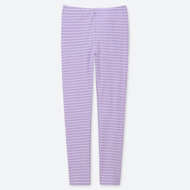 GIRLS STRIPED LEGGINGS, PURPLE, medium