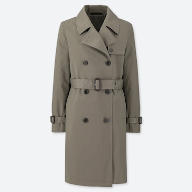 WOMEN TRENCH COAT, OLIVE, medium