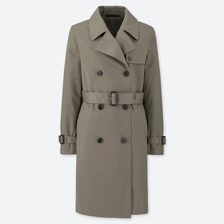 WOMEN TRENCH COAT, OLIVE, large