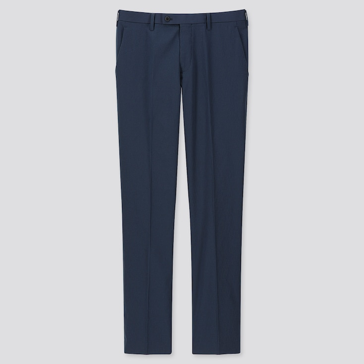 MEN SEERSUCKER KANDO PANTS (ULTRA LIGHT), NAVY, large