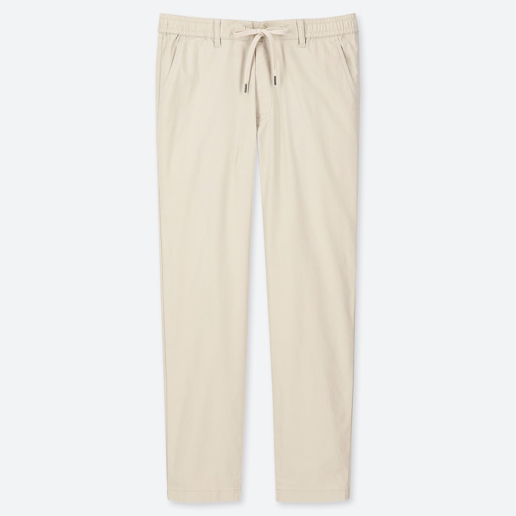 MEN PULL-ON RELAXED PANTS, NATURAL, large