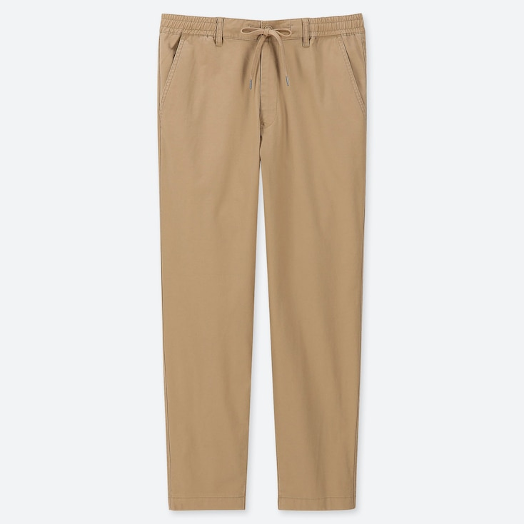 MEN PULL-ON RELAXED PANTS, BEIGE, large