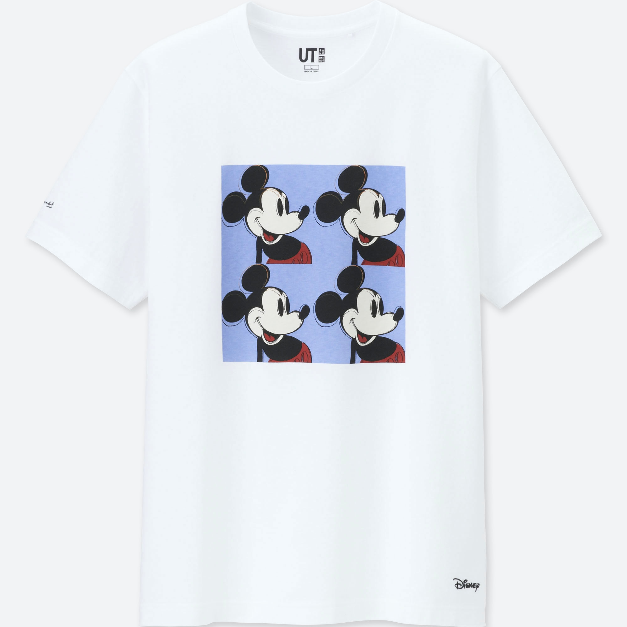 8e6ae3f7f475e MICKEY MOUSE ART BY ANDY WARHOL UT (SHORT-SLEEVE GRAPHIC T-SHIRT ...