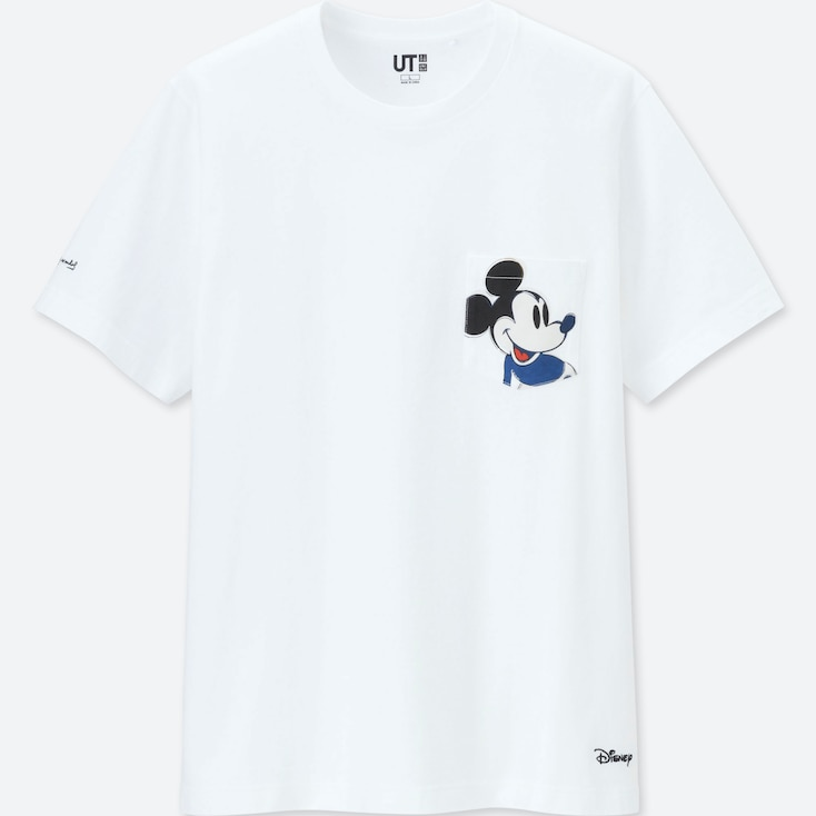 MICKEY MOUSE ART BY ANDY WARHOL UT (SHORT-SLEEVE GRAPHIC T-SHIRT), WHITE, large