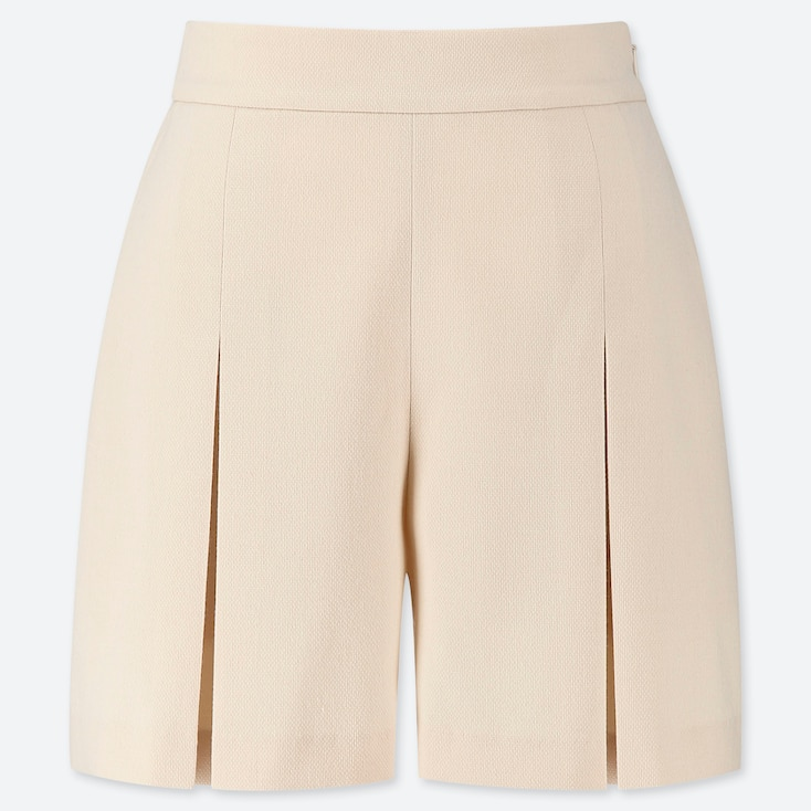 WOMEN TUCKED SHORTS (ONLINE EXCLUSIVE), NATURAL, large