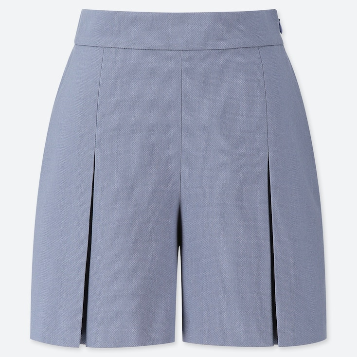 WOMEN TUCKED SHORTS (ONLINE EXCLUSIVE), BLUE, large