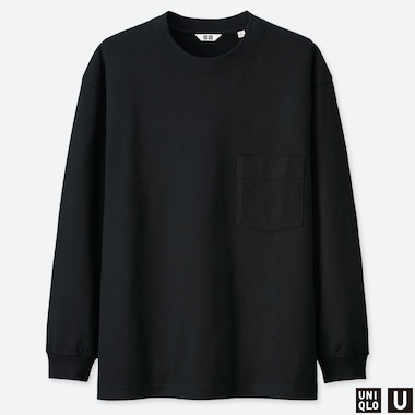 MEN UNIQLO U CREW NECK LONG SLEEVED T-SHIRT