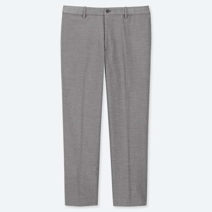 MEN EZY HOUNDSTOOTH ANKLE TROUSERS