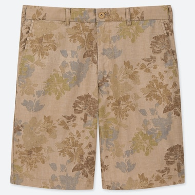 MEN FLOWER PRINT CHINO SHORTS