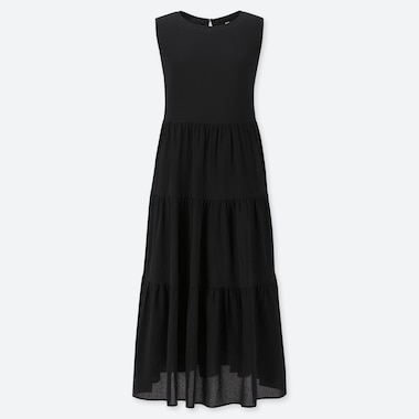 WOMEN COTTON SLEEVELESS MIDI DRESS