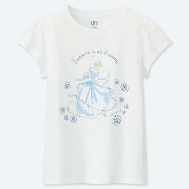 GIRLS DISNEY BLOSSOMING DREAMS UT (SHORT-SLEEVE GRAPHIC T-SHIRT), WHITE, medium