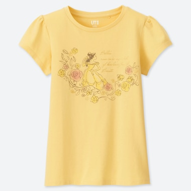 GIRLS DISNEY BLOSSOMING DREAMS UT (SHORT-SLEEVE GRAPHIC T-SHIRT), YELLOW, medium