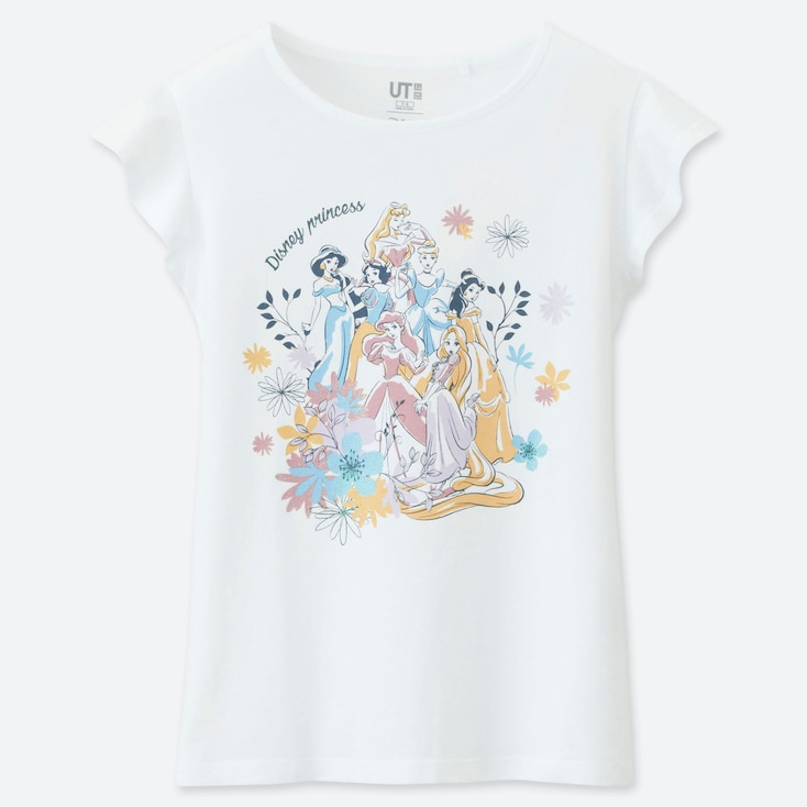 GIRLS DISNEY BLOSSOMING DREAMS UT (SHORT-SLEEVE GRAPHIC T-SHIRT), WHITE, large