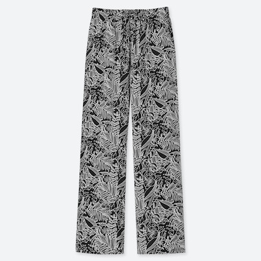 WOMEN DRAPE TROPICAL PRINT JOGGERS