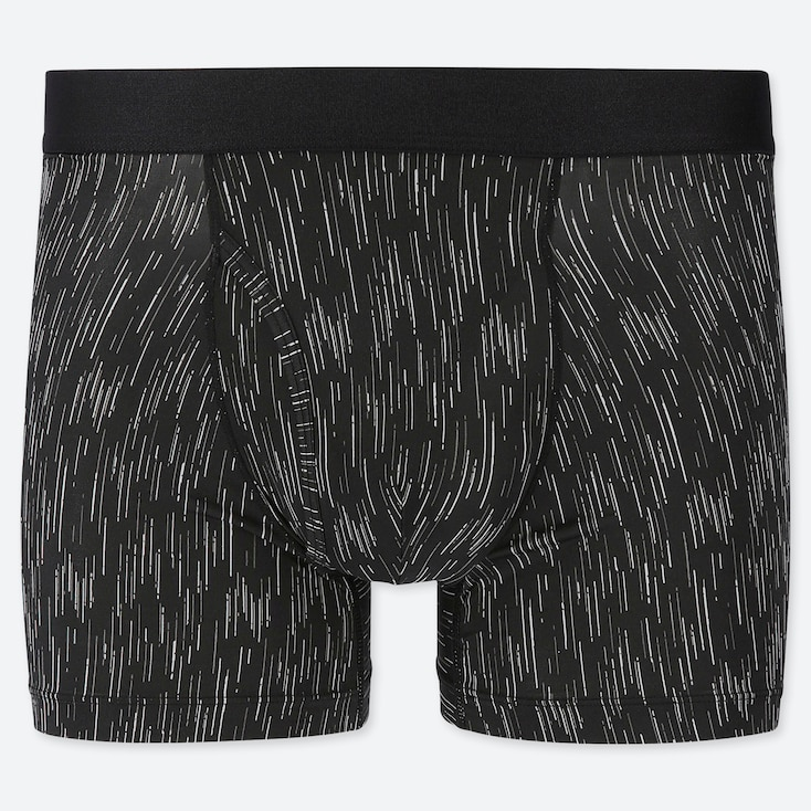 MEN AIRism BOXER BRIEFS, BLACK, large