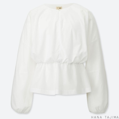 WOMEN HANA TAJIMA COTTON LONG SLEEVED BLOUSE