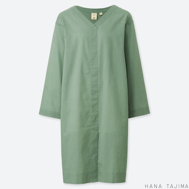 WOMEN HANA TAJIMA V NECK LONG SLEEVED TUNIC