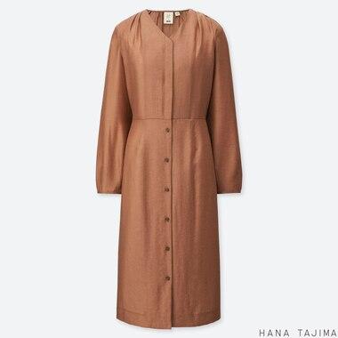 WOMEN HANA TAJIMA TIE BACK LONG SLEEVED DRESS