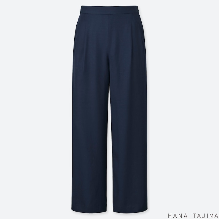 WOMEN HANA TAJIMA TUCKED RELAXED FIT WIDE LEG TROUSERS